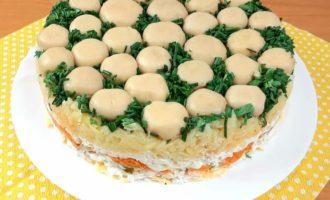 Rețeta Salată «Poienița cu ciuperci»