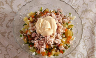 Salată «Clopoțelul de Crăciun»
