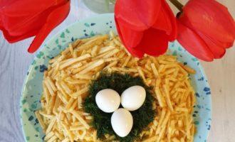 Salată Cuib de prepeliță rezultat