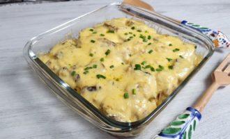 Rețeta Budincă de cartofi cu ciuperci la cuptor